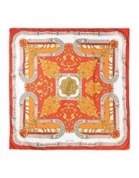 Marina D'este Square Scarves Red