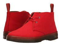 Dr. Martens Daytona Desert Boot Red Overdyed Twill Canvas Women's Lace Up Boots Orange