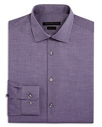 John Varvatos Star Usa Cross Twill Slim Fit Stretch Dress Shirt Purple