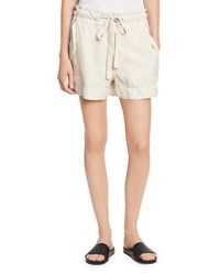 Vince Drawstring Utility Shorts Bleached