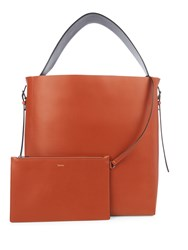 Valextra Smooth Leather Tote Bag Mid Tan