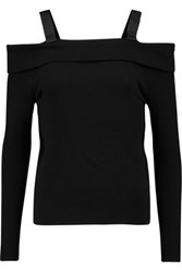 Raoul Off The Shoulder Cotton Blend Sweater Black