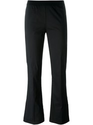 Twin Set Cropped Flare Trousers Black