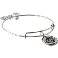 Alex And Ani Celtic Knot Charm Bangle Rafaelian Silver Finish Bracelet