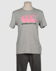 Canterbury Of New Zealand Short Sleeve T Shirts Light Grey