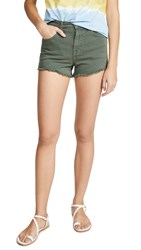 7 For All Mankind High Waist Shorts Army