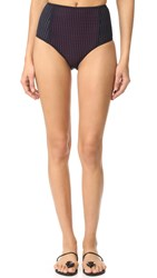 Dion Lee High Waisted Briefs Ink Multi