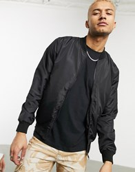 Soul Star Bomber Jacket In Black