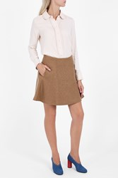 Paul Joe Sister Women S Double Face Wool Skirt Boutique1 Beige
