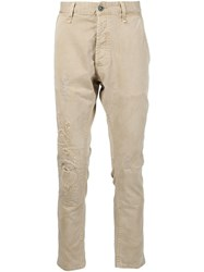 Denham Jeans Distressed Trousers Nude And Neutrals