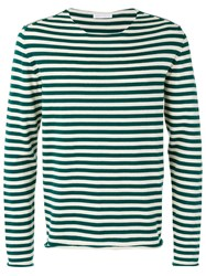 Societe Anonyme 'Universal' Striped Pullover Unisex Cotton Xs Green