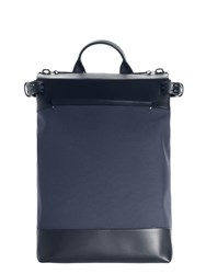 Troubadour Goods Rucksack Navy Nylon And Navy Leather Blue