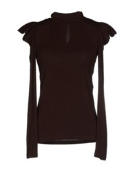 Daniele Alessandrini T Shirts Dark Brown