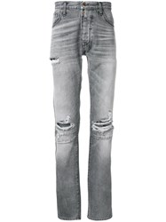 Unravel Project Distressed Style Jeans Grey