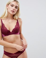 Ted Baker B By Bold Lace Plunge Bra Purple