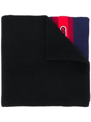 Kenzo Logo Patch Knitted Scarf Black