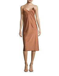 Dkny Reversible Slip Dress Copper
