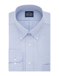 Eagle Long Sleeve Solid Dress Shirt With Flex Collar Blue