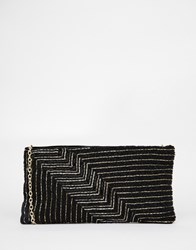Vero Moda Embellished Clutch Bag With Fine Chain Strap Black
