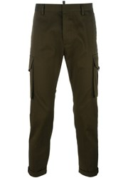 Dsquared2 Cropped Cargo Pants Green