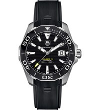 Tag Heuer Way211aft6068 Aquaracer Stainless Steel Watch Black