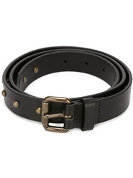Tomas Maier Studded Belt Black