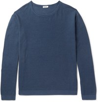 Eidos Linea Cotton And Cashmere Blend Sweater Navy