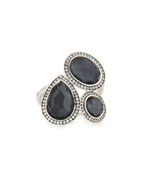 Ippolita Stella Hematite And Diamond Cocktail Ring Silver