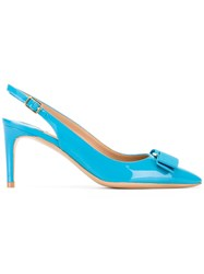 Salvatore Ferragamo Slingback Pumps Blue