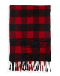 Bloomingdale's The Men's Store At Cashmere Buffalo Check Scarf Black Red