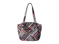 Vera Bradley Glenna Northern Stripes Tote Handbags Gray