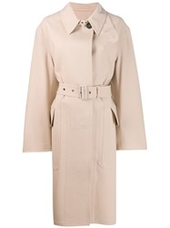 Tom Ford Single Breasted Trench Coat Neutrals