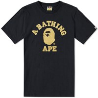A Bathing Ape Glitter College Tee Black