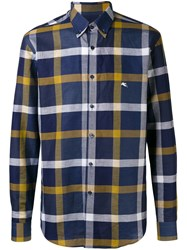 Etro Plaid Button Down Shirt Blue