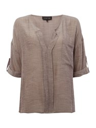 Label Lab Amy Woven Shirt Mink