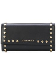Givenchy Studded Wallet Calf Leather Black