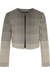 Raoul Cropped Cotton Blend Jacquard Jacket White