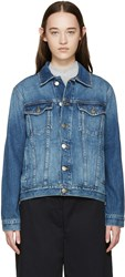 Frame Denim Blue Denim Le Original Jacket