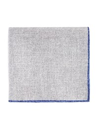 Bloomingdale's The Men's Store At Wool Pocket Square Gray Blue