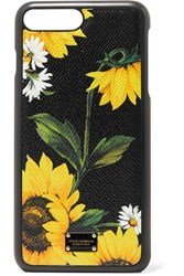 Dolce And Gabbana Printed Textured Leather Iphone 7 Plus Case Black