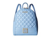 Love Moschino Quilted Mini Backpack Blue Backpack Bags