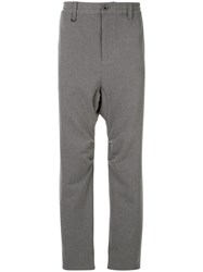 Makavelic Drop Crotch Trousers Grey