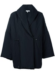 Iro Oversized Double Breasted Coat Black