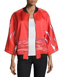 Opening Ceremony Reversible Kimono Silk Bomber Jacket Multi