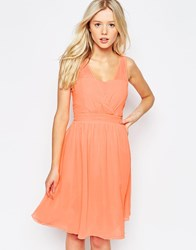 B.Young Cross Front Skater Dress Pink