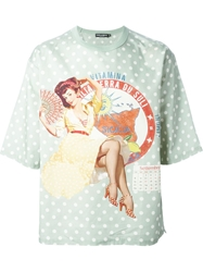 Dolce And Gabbana Pin Up Print T Shirt