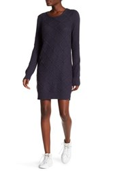 Volcom Chained Down Cable Sweater Dress Blue