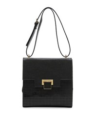 Braccialini Linda Saffiano Leather Handbag Black
