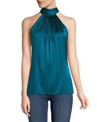 bbdf9659bf3b6f Ramy Brook Paige Halter Neck Top Merlot Blue