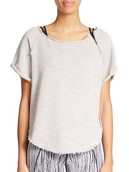 Vimmia Short Sleeve Stretch Cotton Pullover Heather Grey